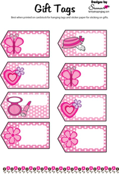 favor tag barbie gift tags free printable ideas from