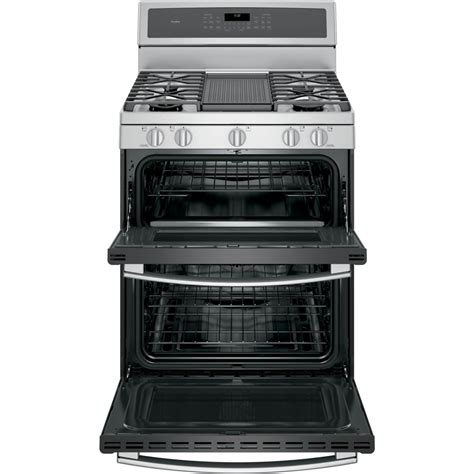 Oven Gas Standing pgb980zejss ge profile series 30 quot free standing gas oven convection range