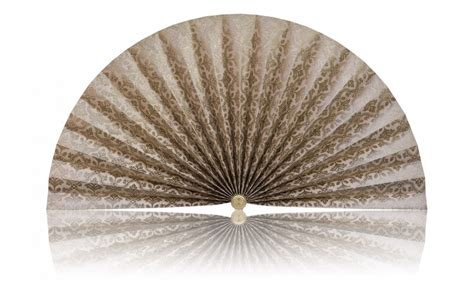 decorative pleated window fans beige with gold accents pleated decorative fans