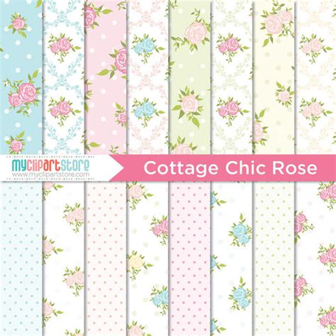 Paper Cottage by Digital Paper Cottage Chic Instant