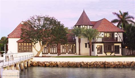 Florida Style Home Plans 23 5 Million Historic English Tudor Waterfront Mansion In