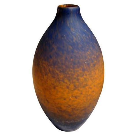 orange vase charles schneider deco cobalt blue to orange