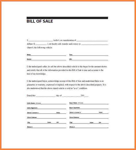 9 bill of sale template word document simple cash bill