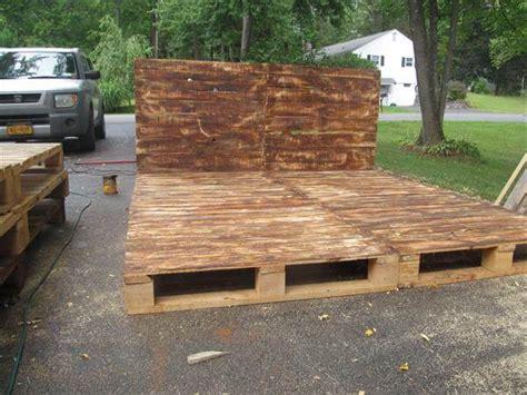 pallet platform bed  headboard pallet furniture diy