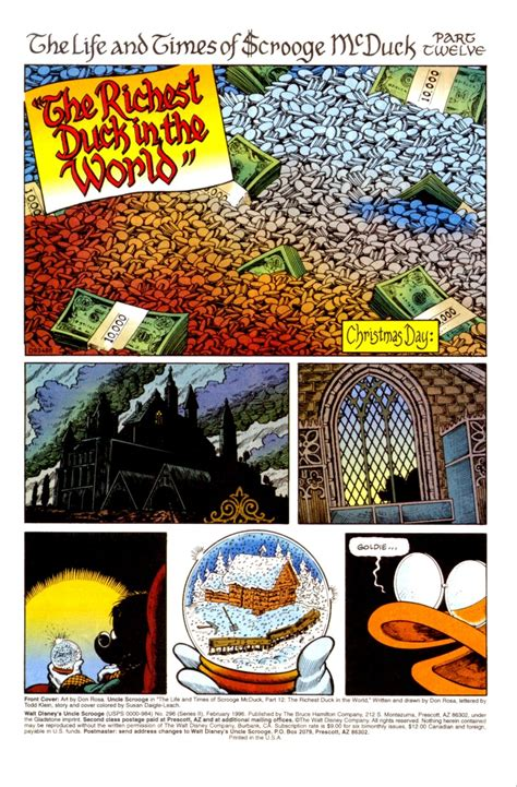 the in the world d u c k dedication in chapter 12 the richest duck in the world by don rosa