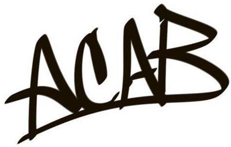 Acab White T Shirt acab graffiti die cut vinyl sticker decal blasted rat