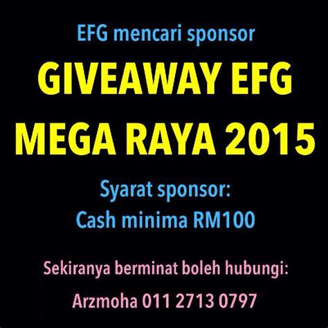 Sponsor Giveaway - pencarian sponsor giveaway efg mega raya khatyaiman