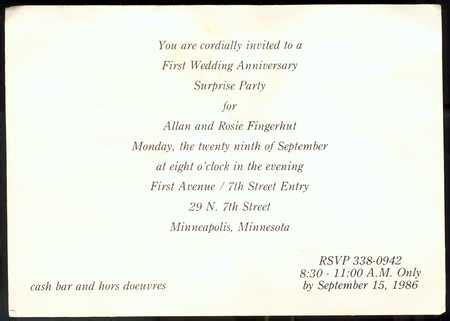 First Anniversary Invitations 1st Wedding Anniversary Invitation Templates