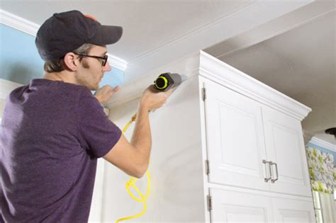 How To Cut Crown Molding Angles For Kitchen Cabinets how to add crown molding to the top of your cabinets