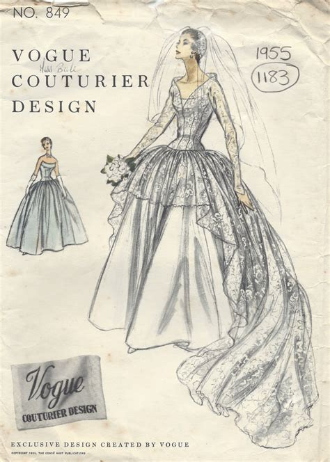 dress pattern vintage vogue 1955 vintage vogue sewing pattern b34 bridal dress or