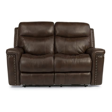 Leather Loveseat Power Recliner by Flexsteel 1339 60p Grover Leather Power Reclining Loveseat