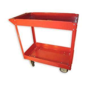olympia 600 lb capacity 2 shelf steel cart 85 184 the