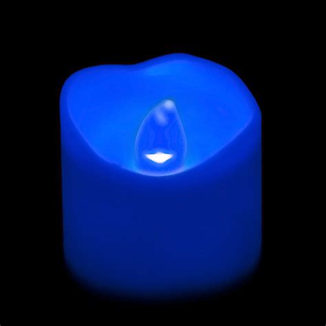 Blue Candles Battery Operated Led Votive Candle Blue