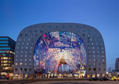 Expansive Rotterdam Market Hall Shaped Like A Giant Horse Shoe by MVRDV   Freshome.com