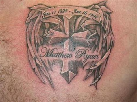 in loving memory tattoo designs remembrance on chest