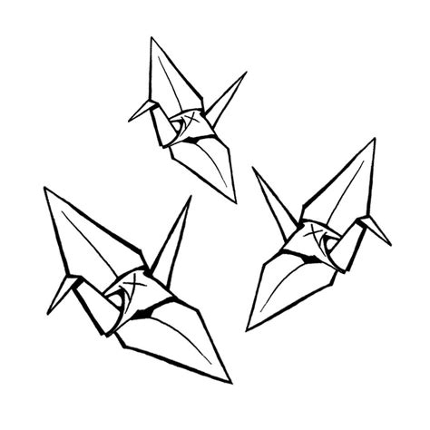 Origami Drawing - origami crane drawing www imgkid the image kid has it