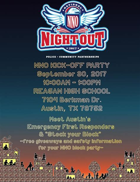 Image Result For Free Templates For National Night Out Flyers And Images My Local Sponsored National Out Flyer Template Free