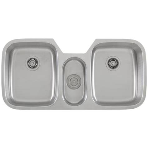 ticor s615 undermount stainless steel triple bowl kitchen