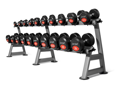 classic rubber solid end dumbbell sets savage