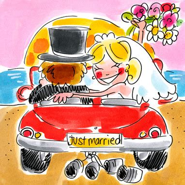 Just Married Auto Blikjes by Leuke Kaartjes Nl Trouwkaarten Just Married Blikjes