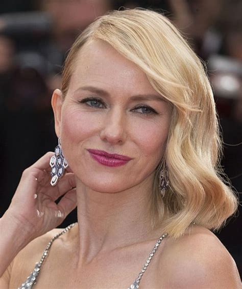swept back casual haircust naomi watts medium straight casual bob hairstyle with side