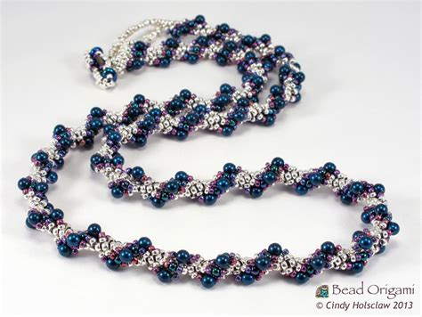 beaded rope bead origami a spiral rope and beaded swatches