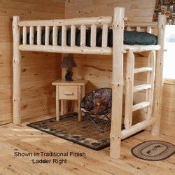 rustic loft bedslog loft bedspine loft beds