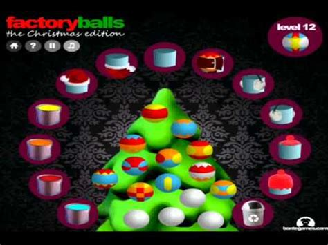 let s play factory balls christmas edition youtube