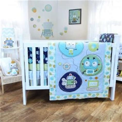 Robot Nursery Robots And Nurseries On Pinterest Robot Crib Bedding