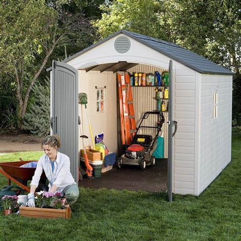 Lifetime Shed 6402 by What Are The Best Backyard Sheds Best Resin Storage Shed