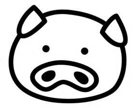 Pig Head Outline Clip Art Clipart Best sketch template