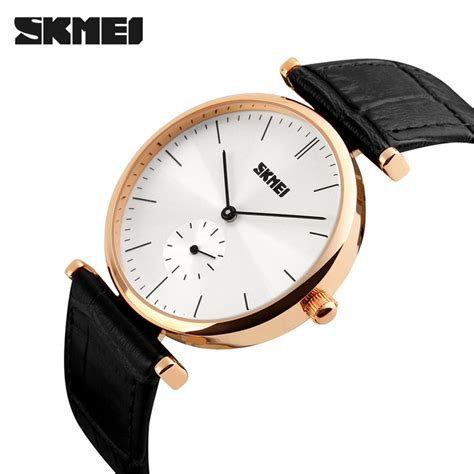 Skmei Casual Leather 9086cl Hitam jual jam tangan pria skmei analog casual leather original 1175cl