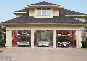 five cars three car garage lift post