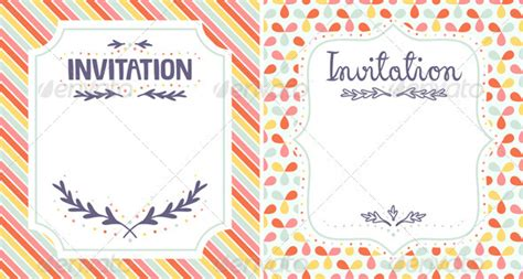 Invitation Templates By Stolenpencil Graphicriver Pretty Invitation Templates