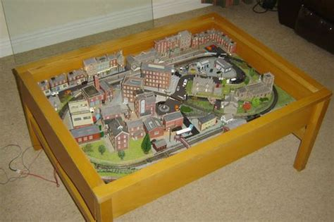 N Gauge Train Layout Set Coffee Table Trains Pinterest Coffee Table Model Railroad