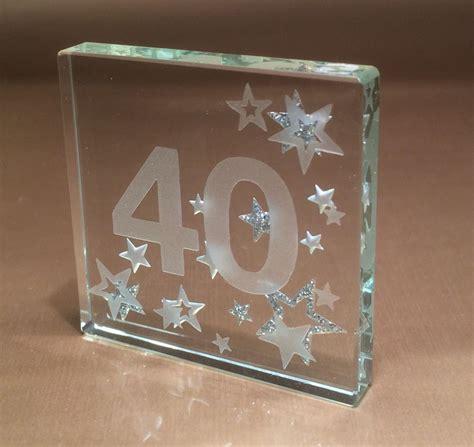 happy 40th birthday gifts ideas spaceform glass keepsake