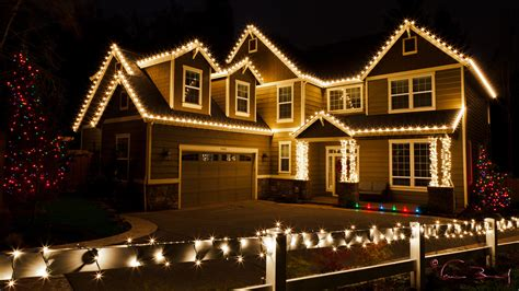 white lights on house lights