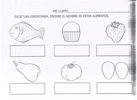 fichas alimentos infantil piruleta colorines fichas lectoescritura