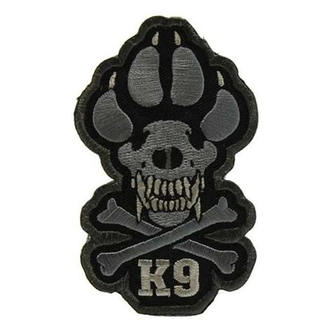 Rubber Patch Detasemen K9 K 9 Emblem Velcro Perekat Karet mil spec monkey k9 patch tacticalgear