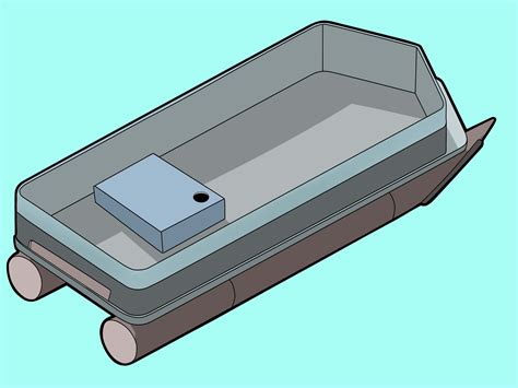a picture of a pontoon boat how to construct an overnight pontoon boat with pictures