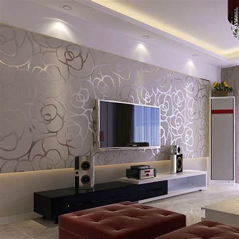 wallpapers in home interiors best 20 wallpaper for living room ideas on