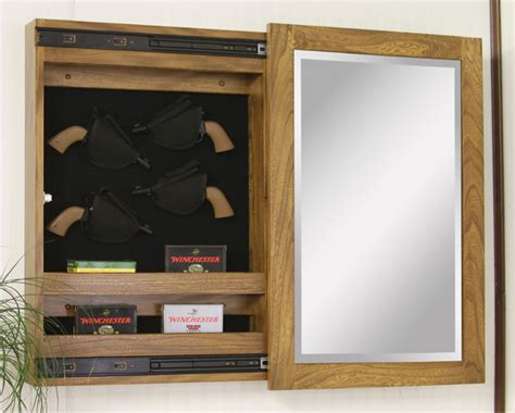 In Wall Gun Cabinet by Wall Mount Sliding Mirror Gun Cabinets Ohio Hardwood