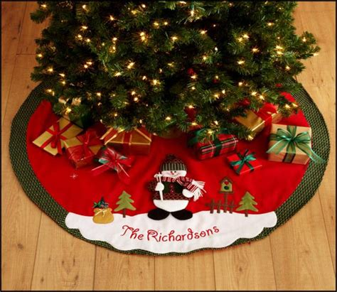 tree skirts beautiful personalized tree skirts homesfeed