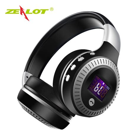Zealot B19 Wireless Headset Bluetooth Headphone With Tf Fm Radio Zealot B19 Headphone Lcd Display Hifi Bass Stereo Bluetooth Wireless Headset With Mic Tf Card