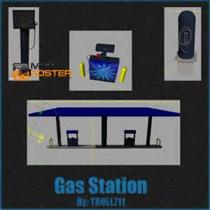 fs 2011 gas station pack v buildings with functions mod
