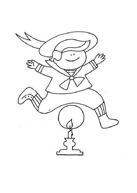 boy jumping coloring page free preschool coloring pages of boy jumping above candle