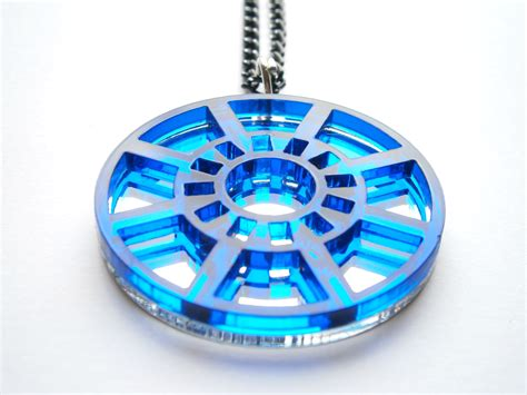 iron necklace arc reactor laser cut jewelry