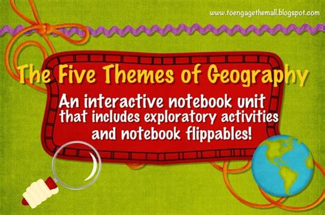 5 themes of geography interactive games interactive notebook unit with flippables five themes of