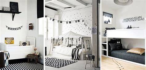 decoracion recamara blanca habitaciones infantiles en blanco y negro