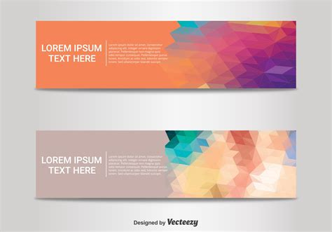 abstract banner templates download free vector art